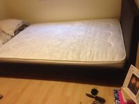 Double bed and mattress for sale bought brand new in April. Excellent condition.
