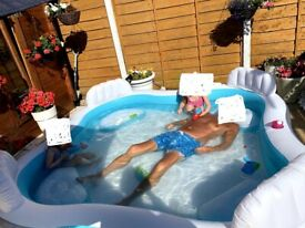 Inflatable Family Paddling Pool with 4 seats