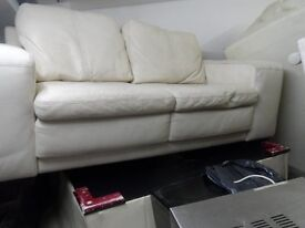 IKEA LEATHER BIG TWO SEATER SOFA IN VERY EXCELLENT CONDITION WITH FEET DELIVER FREE MCR 07761586744