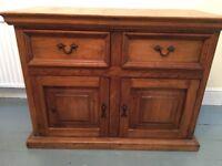 Chunky Wooden Sideboard cupboard