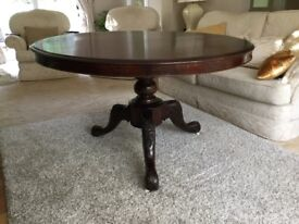 Antique tilt top dining room table excellent condition