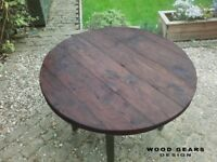 Dining Table Urban Industrial Chic Design Reclaimed Solid Wood Made to Measure