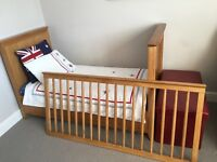 Mothercare Cot bed with Baby change table