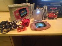 Gameboy Advance hand held console with game