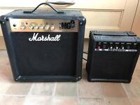 Guitar Marshall amps speakers x2