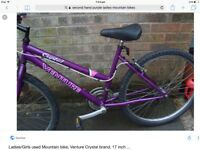Ladies 15 speed mountain bike £30