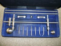 Trammel set moore and Wright. In presentation case, excellent condition. Used in drawing office.