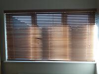 Hilary's/Web blinds oak coloured wooden venetian blinds x2