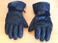 Black Leather Weise Motorcycle gloves – Large