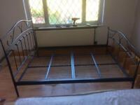 SOLD King size black metal bed frame