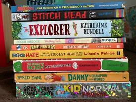 Kids books bundle: Big Nate, Time Hunters, The Explorer, Roald Dahl, etc.