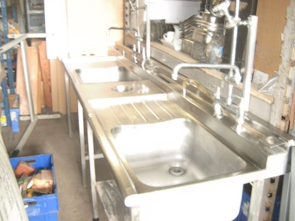Stainless Steel Sink Units Stainless Steel Double Drainer Sink - Stainless steel double bowl double drainer commercial sink unit with taps