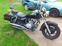 125cc Motorbike Pioneer Nevada ,11 months MOT