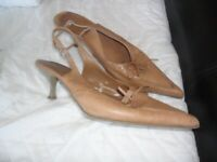 Used, ladies sling back shoes 6 for sale  Hull, East Yorkshire