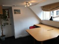 Quiet & Bright two desk office in central Brighton near North Laine. Suit small Design Media company