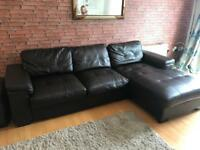 Can deliver today only Brown leather corner sofa NEED GONE TODAY