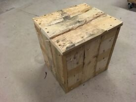 Rustic, hand crafted small table, stool or waste bin