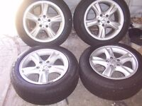 mercedes clk 16 inch alloy wheels with tyres
