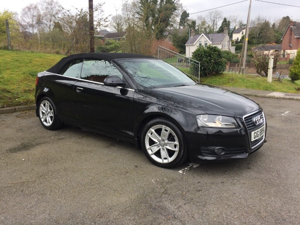 Audi A3 Cabriolet 2,0 TDI CR SPORT ** FULL RED LEATHER ** AUID A4 VW GOLF |  in Lisburn, County Antrim | Gumtree