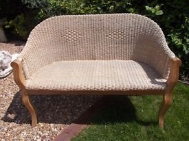 Ash & Wicker Coservatory Bench