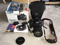 Canon EOS 600d SLR digital camera 18mp with 18mm to 135mm lense