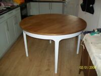 teak dining table upcycled