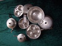 Calling all campers! Selection of aluminium cookware. Make an offer!