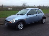 FORD KA 1.3i STUDIO 2007 (56) 3 DOOR 87k SERVICE HISTORY EXCELLENT CONDITION MOT FEB 2017 BLUE