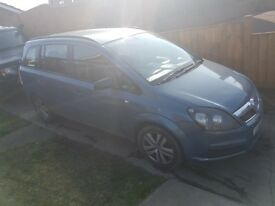 2008 Vauxhall Zafira exclusiv mpv for parts or salvage