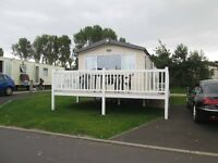 Beautiful Large Open Plan Caravan with decking for rent / hire at Craig Tara