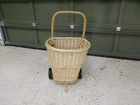 Brand New Cane/Rattan Wheeled Shopping Trolley