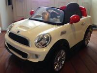 Mini Cooper electric ride on car battery