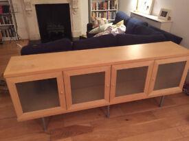 Price drop! Ikea Sideboard Light Wood with Glass Doors
