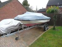 15' boat and trailer