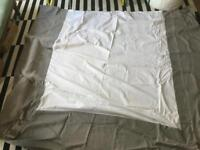 Feather & Black Super king size bed luxury upholstered linen beige Valance
