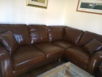 5 month old leather corner sofa