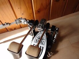 Natal Double Bass Drum Fast-Cam Pedal Chain Drive Drum kit