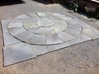 Stone garden patio slab paving kit
