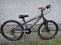 Barracuda X jibe24 bike, 24 inch wheels, 18 gears, 12 inch aluminium frame, suit 9 to 12 years old