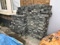 FREE dark grey house bricks - some discolouration but otherwise good bricks (and free)