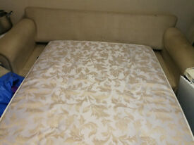 Cream 3 piece sofa