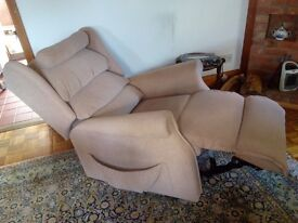 Electrically adjustable armchair.