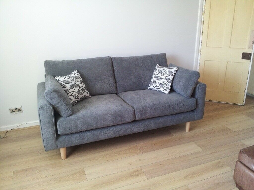 Marvelous 3 Seater Grey Sofa With Wooden Legs Exceeding Conditions In Stenhouse Edinburgh Gumtree Theyellowbook Wood Chair Design Ideas Theyellowbookinfo