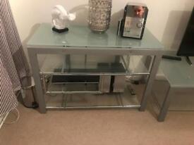Glass TV Entertainment Table