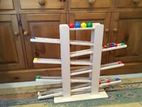 Hess Wooden 4 Marble Run Baby Toy, 40 cm