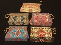 Moroccan Ladies Faux LeatherZip coin hand Bag DVD i phone Tablets Turkish