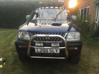 Selling my mitsubish l200 2.5 turbo manual gearbox. Body work needs some tlc engine is sweet!