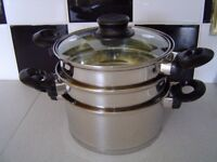 HELLS KITCHEN STEAMER & STOCK POT