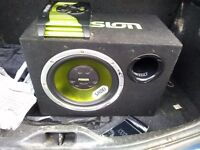 Fusion subwoofer and amp for car