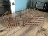 9 bronze storage baskets